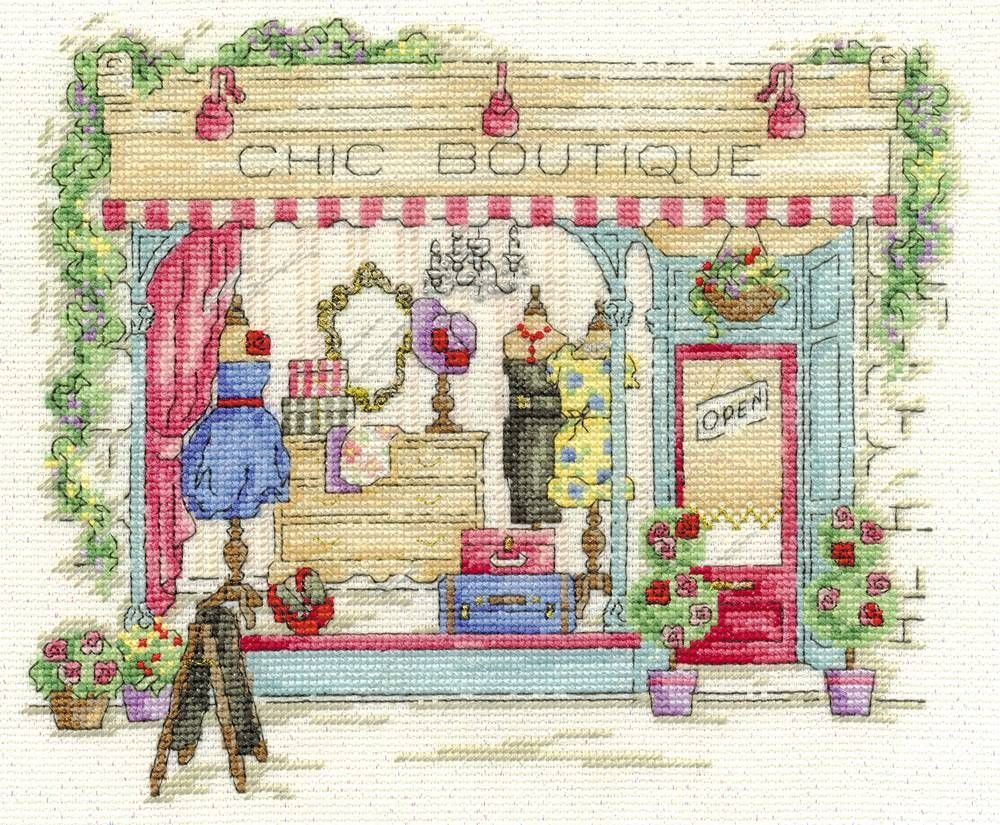 Chic Boutique Cross Stitch Kit, Designed by Maria Diaz - £22.50 on Past Impressions | from DMC