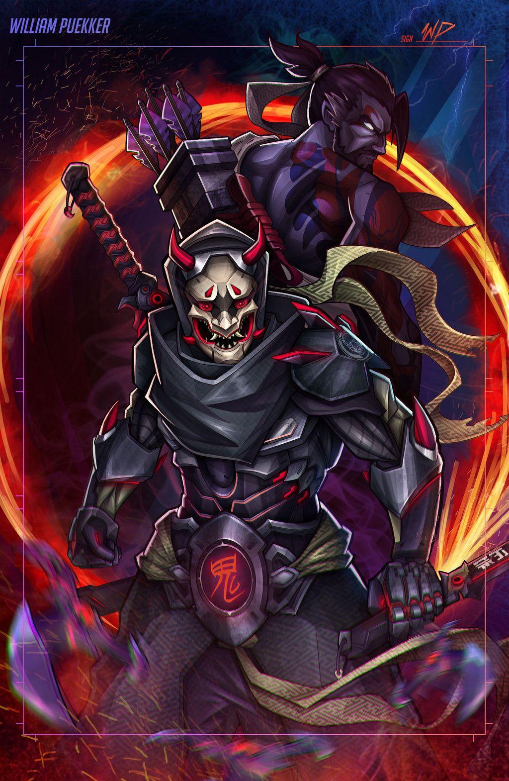 Genji Oni Overwatch by Puekkers Overwatch Pinterest