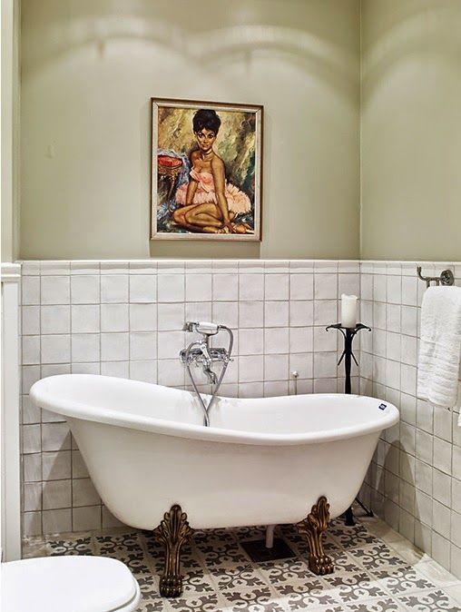 Fantastisk My Bohemic home: Badrumsinspiration - lantliga badrum! | BATHROOM FT-26