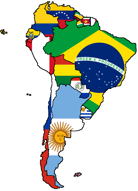 Flag Map Of South America South America Map South America Flag South America