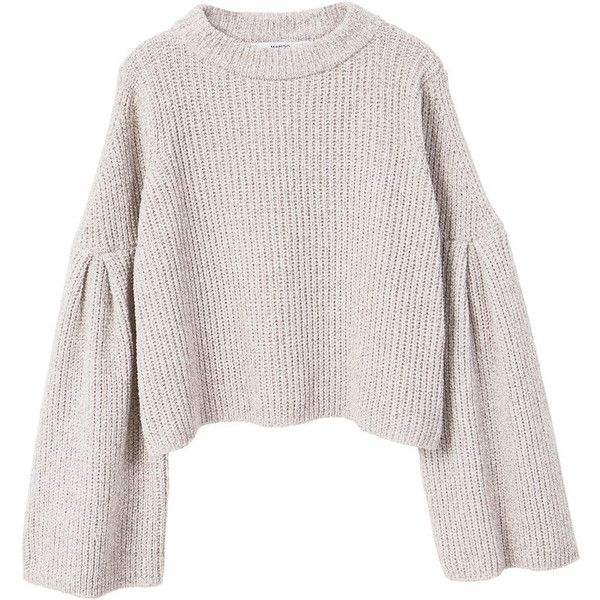 766870cee5fd6b MANGO Flared sleeves sweater ( 50) ❤ liked on Polyvore featuring tops