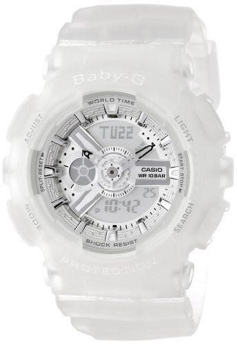 Casio Women's BA-110-7A2CR Baby-G Silver-Tone Analog-Digital Display and Translucent Resin Strap Watch Casio,http://www.amazon.com/dp/B00ELAO1QE/ref=cm_sw_r_pi_dp_575Ctb17KE7H2W85
