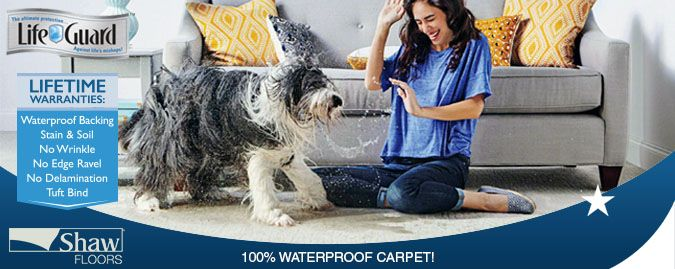 Lifeguard 100 Waterproof Stain Resistant Carpet Shaw