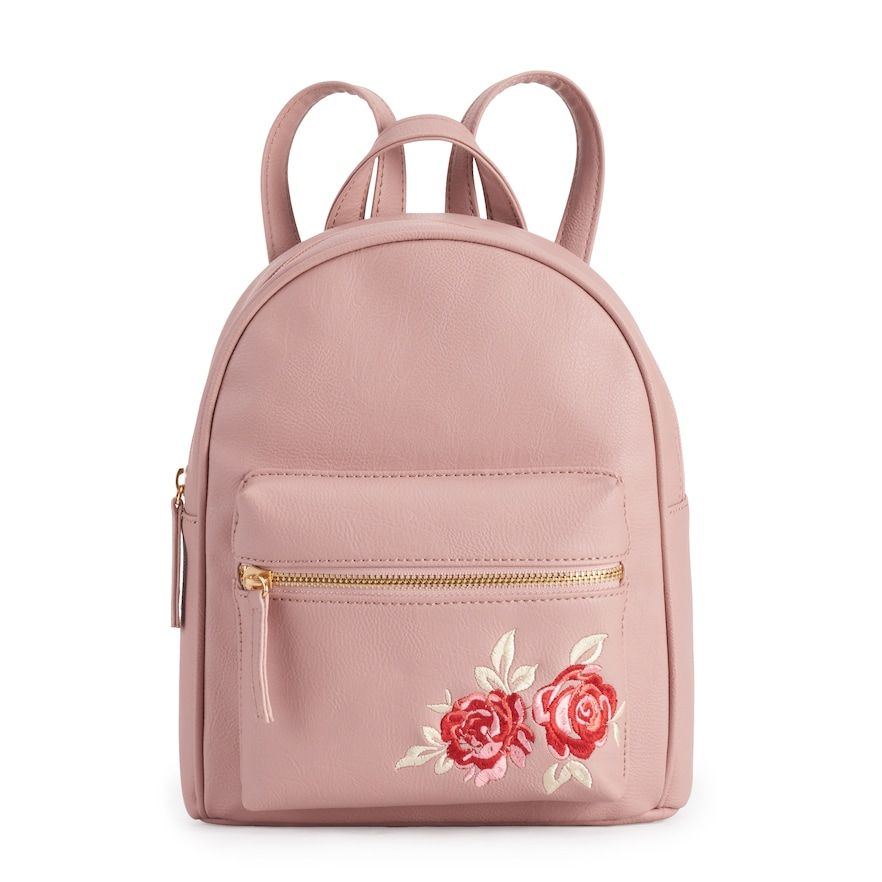 b7999cdff7 Omg Accessories OMG Accessories Rose Embroidered Mini Backpack in ...