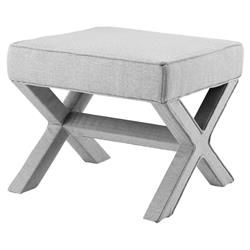 Best Johnny Modern Soft Grey Upholstered Stool Kathy Kuo Home 640 x 480