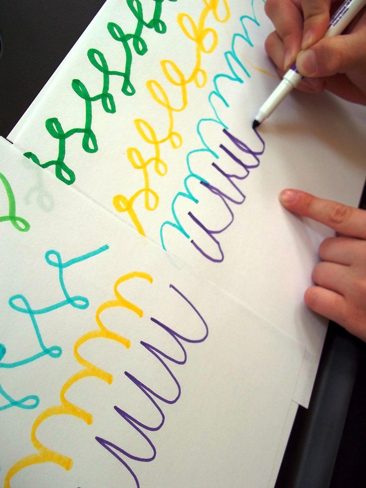 Integrate Fun Cursive Writing And Art