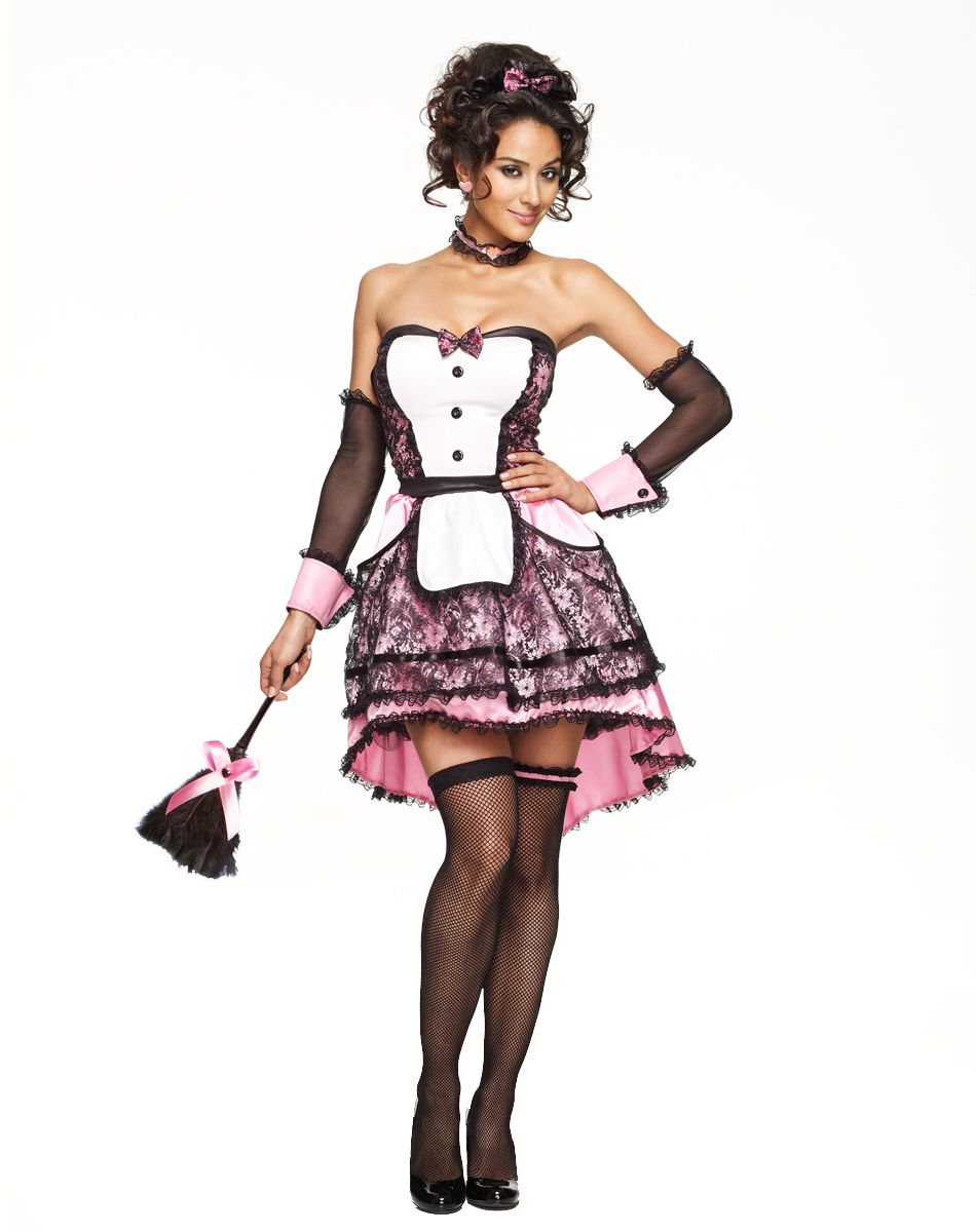 Pretty in Pink Maid Adult Womens Costume exclusively at Spirit ...
