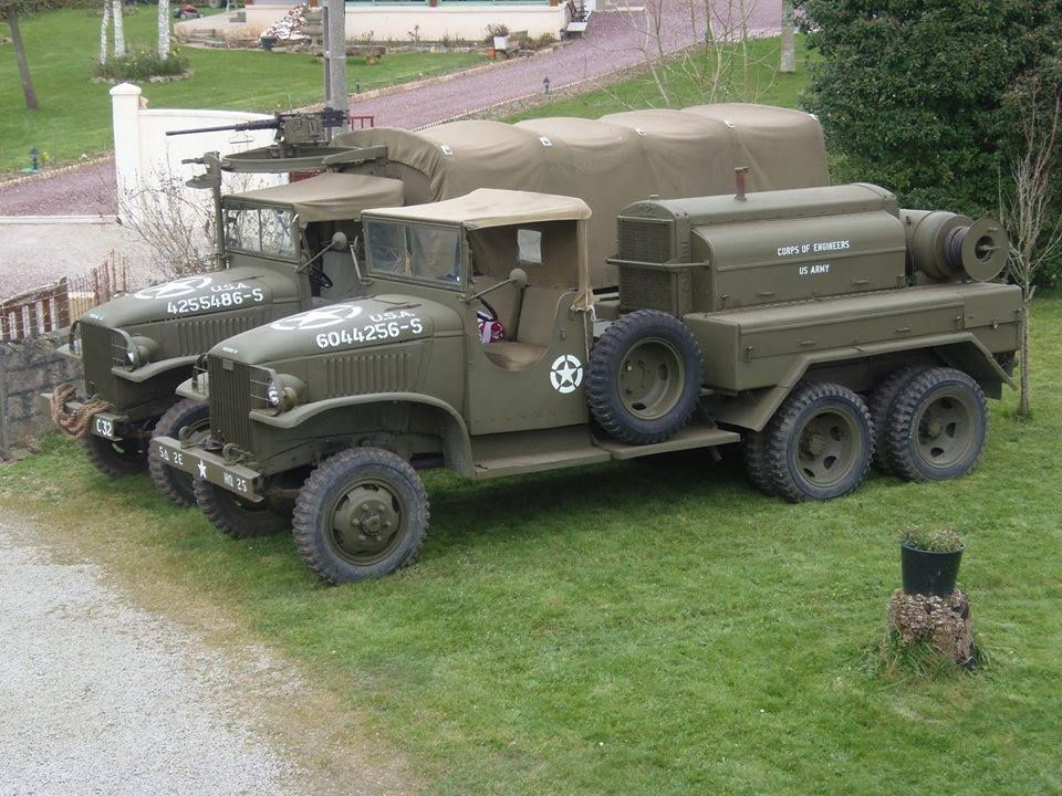 Gmc 353 Open Cab Leroi Compressor Truck Military Vehicles Army