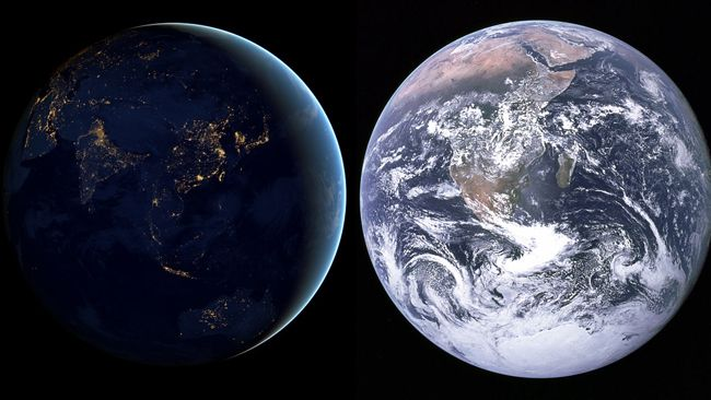 Black Marble And Blue Marble The New Satellite Image Echoes The - World satellite night view