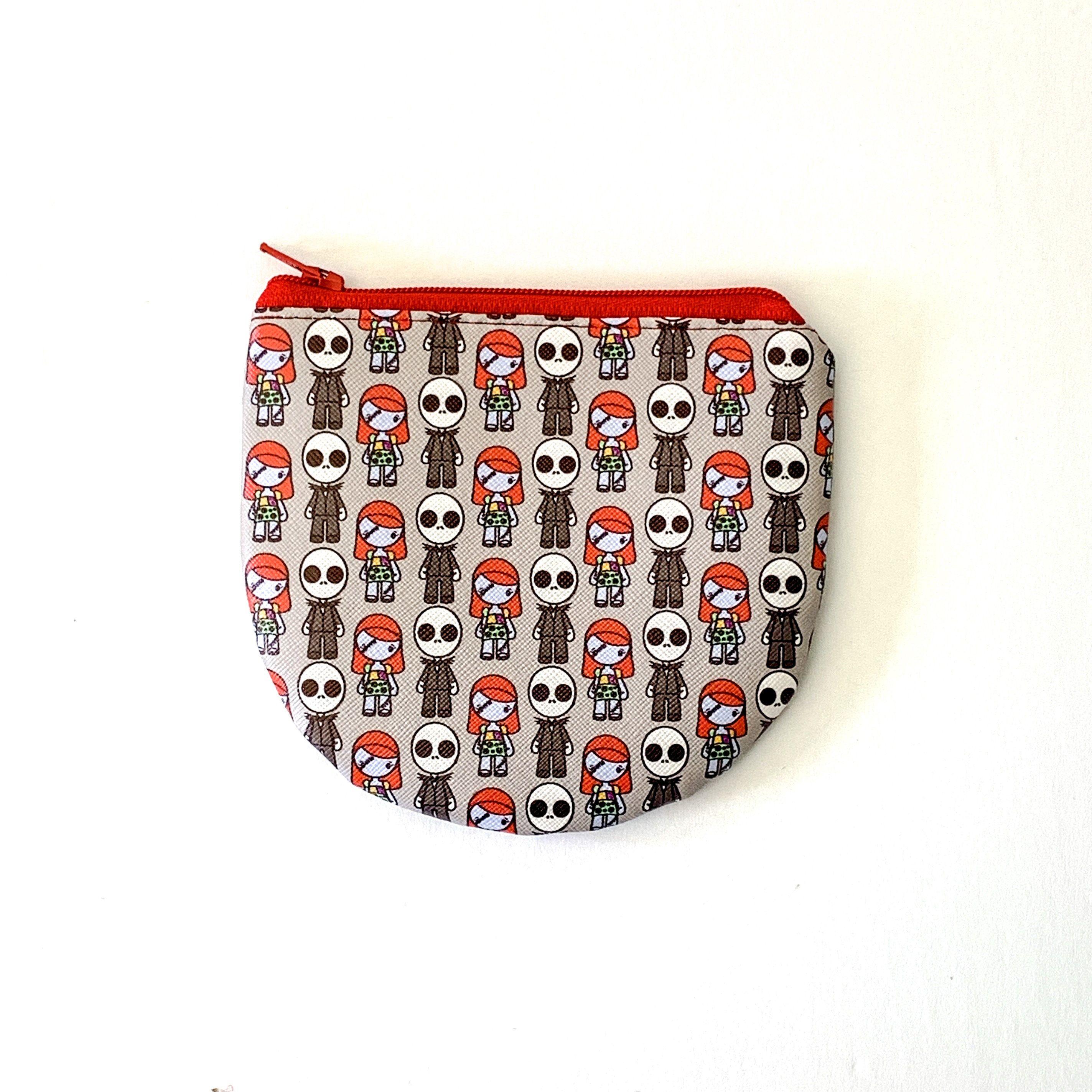 Nightmare Christmas Jack skellington Sally handmade zipper fabric coin change purse card holder