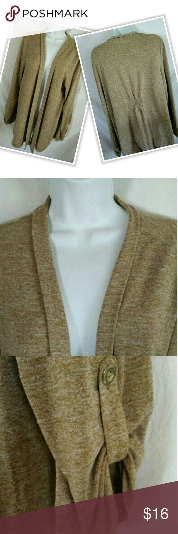 Charter Club Shrug Sweater Tan Open Front | Shrug sweater and Ponchos