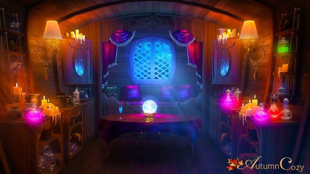 Fortune teller caravan ambience bubbling potion sounds