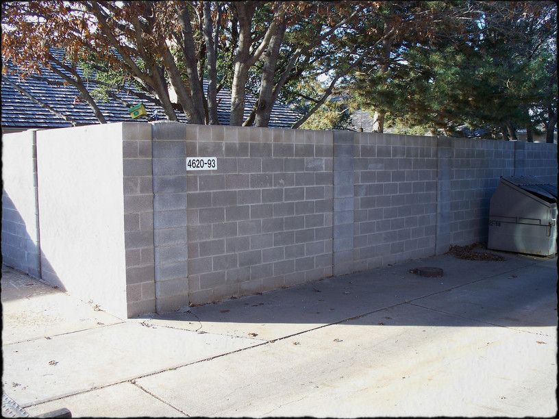 Cinder Block And Wood Fence Ideas Home Ideas Utility Collective Fence Design Concrete Block Walls Cinder Block