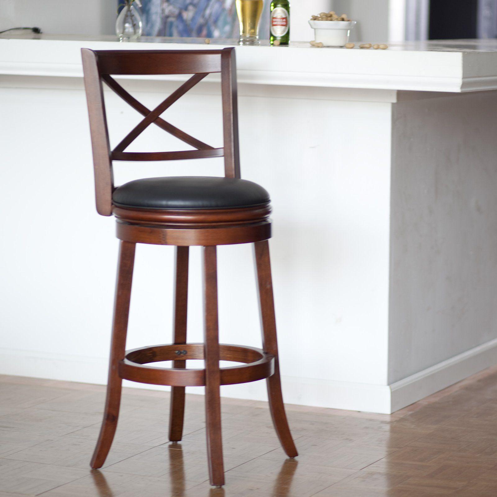 Boraam Georgia 29 In Swivel Bar Stool In 2021 Leather Swivel Bar Stools Swivel Bar Stools Bar Stools