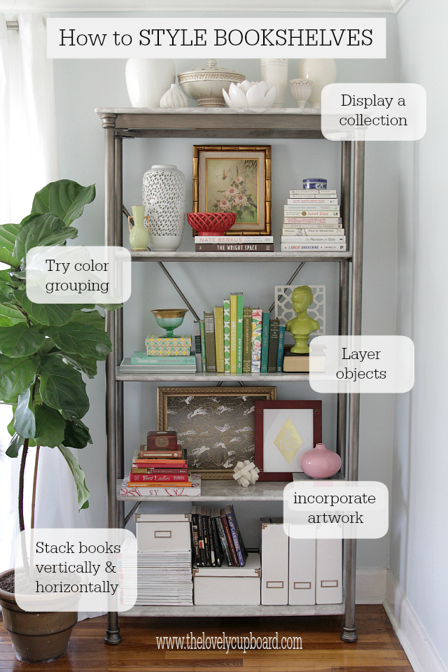 How to Style a Bookshelf | Home | Pinterest | Decorating ...