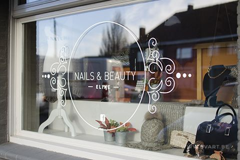 Nails & Beauty Eline – Design window lettering by Svart