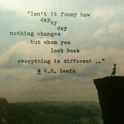 Everything change