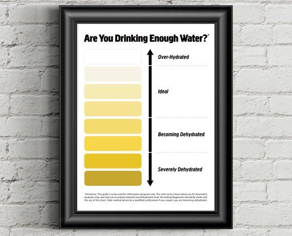 Urine Color Chart, Pee Color Chart, Water Intake Chart, Pee Meaning