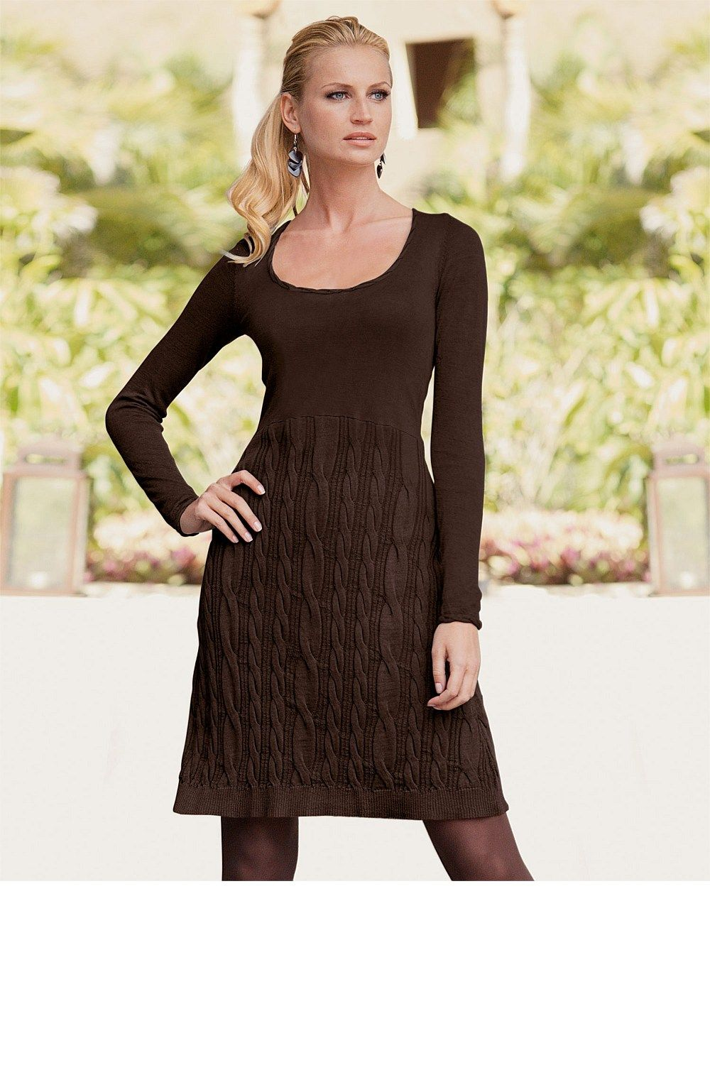 Slimming Pure Color Knitted Woolen Womens Sweater Dress - Womens ...