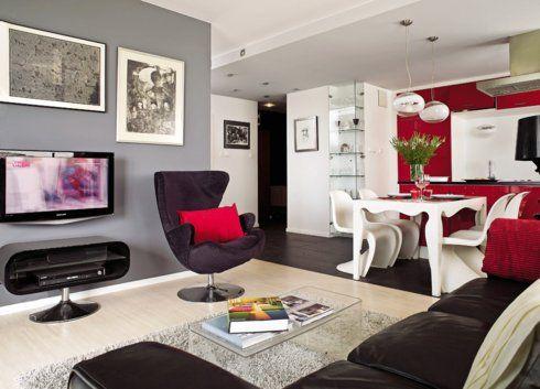 Wnetrza - tu najważniejsza jest gra #kolorow MenFashion - dekovorschlage wohnzimmer essbereich
