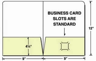 Die Cut Template for Eco Friendly 2 Pocket Kraft Presentation Folder