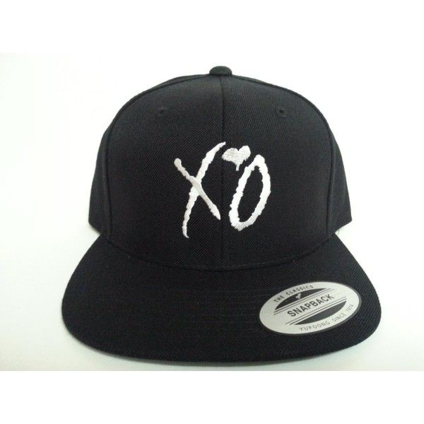 XO The Weeknd Snapback Hat ($15) ❤ liked on Polyvore featuring accessories, hats, baseball hats, sports snapbacks, snap back hats, ball cap and baseball caps