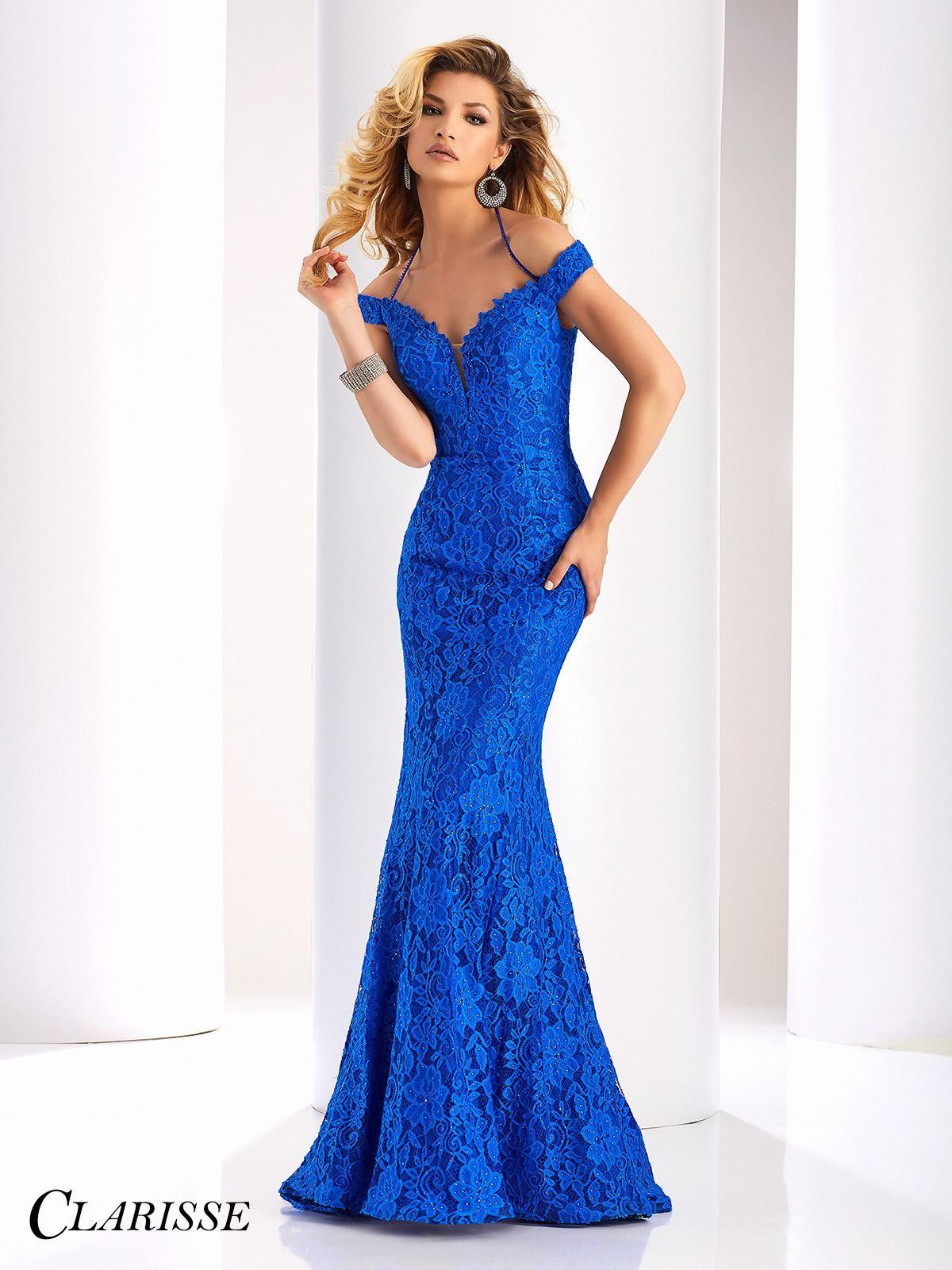 Style description clarisse prom lace dress style