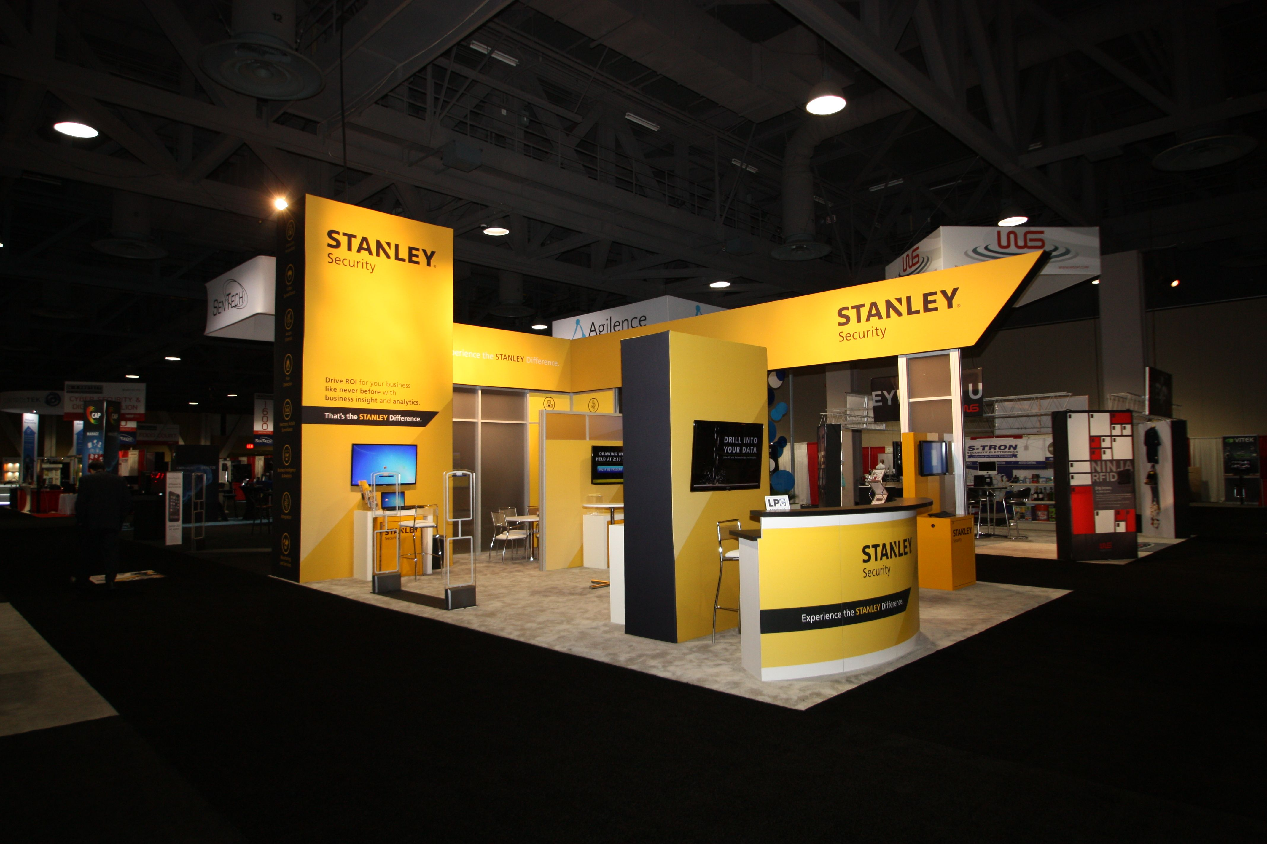 Exhibition Booth Octanorm : Booth for stanley security featherlite exhibits