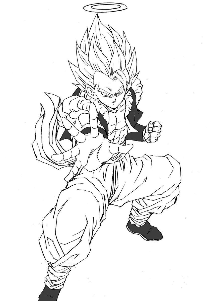Dragon Ball Z Gogeta Coloring Pages Visit Now For 3d Dragon Ball