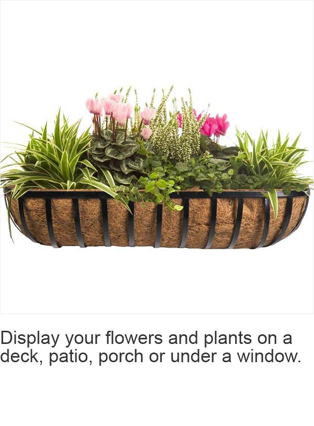 CobraCo 36 in. English Horse Trough Metal Planter-HTR36-B - The Home Depot