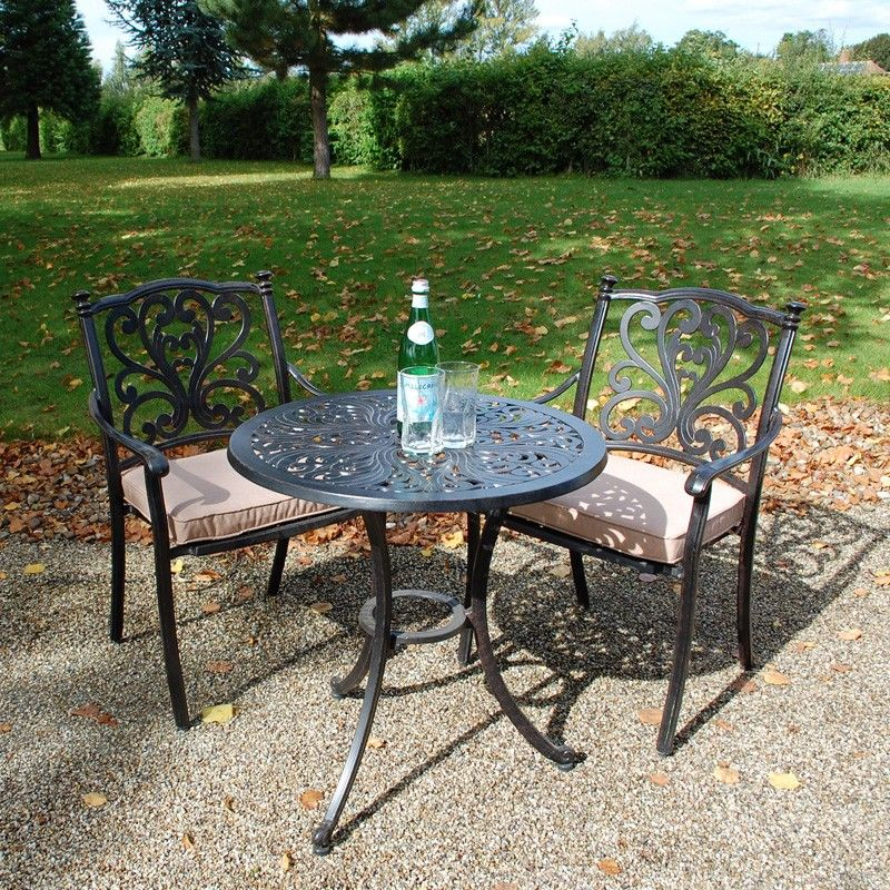 3dbb6b6e8c30 Devon 75cm Round Bistro Set. Outdoor tea for two garden furniture ...