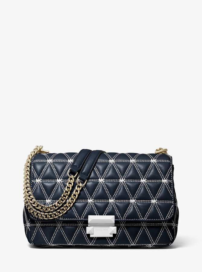 2ea616839bf6 MICHAEL Michael Kors Sloan Large Quilted Leather Shoulder Bag in ...