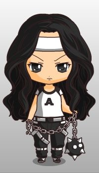 my chibi but not as fat as me , haha lol , and my chibi is too cute , different from real me