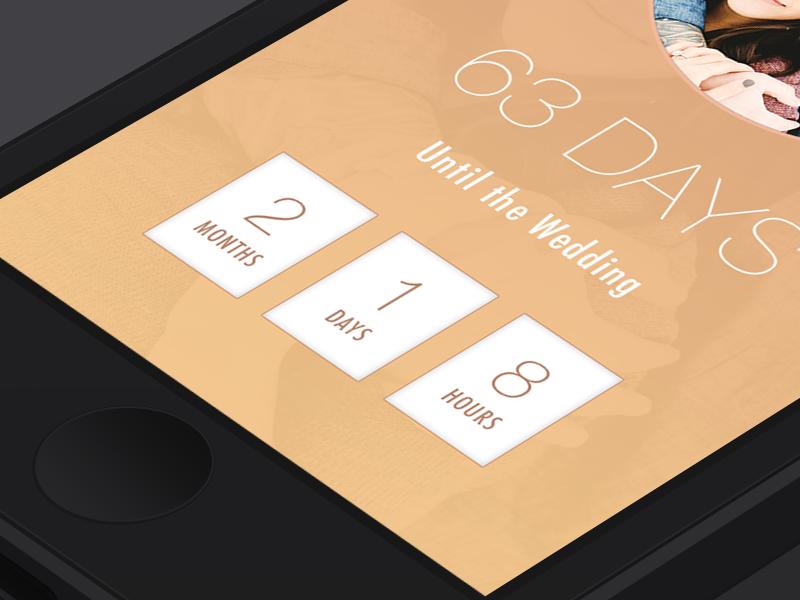 Wedding Countdown App By Greg Becker Wedding Countdown Wedding Ios Apps