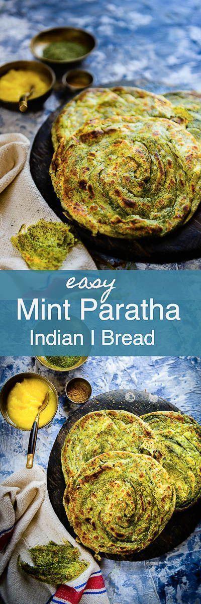 pudina laccha paratha i mint paratha i pudina paratha as the name suggests is made using dried on hebbar s kitchen recipes laccha paratha id=70364