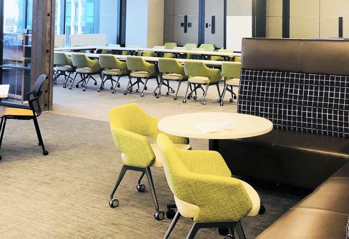 Modern office furniture design inspiration arcadias flirt guest chairs frost bank fort worth workplacedesign workspaces