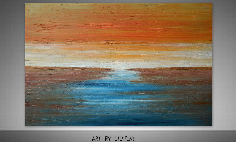 Seascape Painting,Landscape Painting,Textured Painting,Sea Painting,Original Painting,Large Wall Art,Large Painting,Abstract Painting door Itisfine op Etsy https://www.etsy.com/nl/listing/199262897/seascape-paintinglandscape