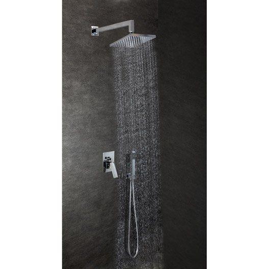 Combiné de douche encastré mural complet prêt à monter Milana