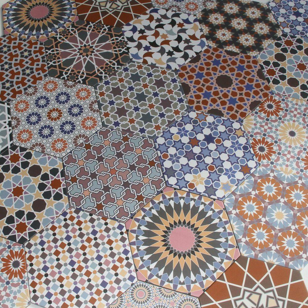 Orientalische Fliesen mediterrane hexagonal Feinsteinzeug