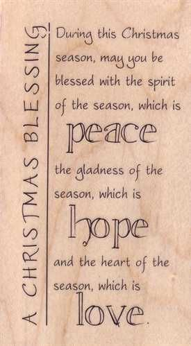 Christmas Blessing Poem.A Christmas Blessing Christmas Verses Christmas Card