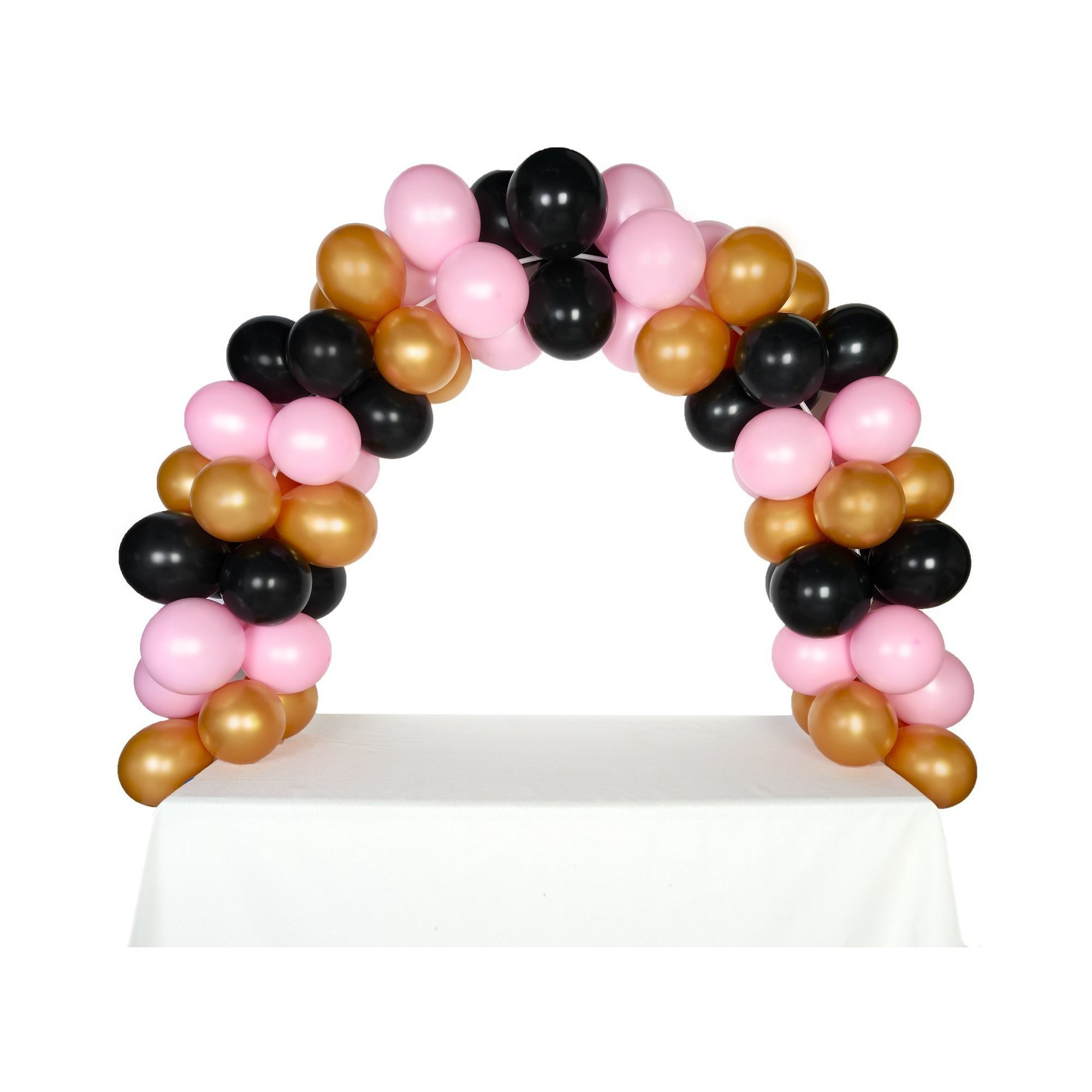 Celebration Tabletop Balloon ArchGold Black & Pink in