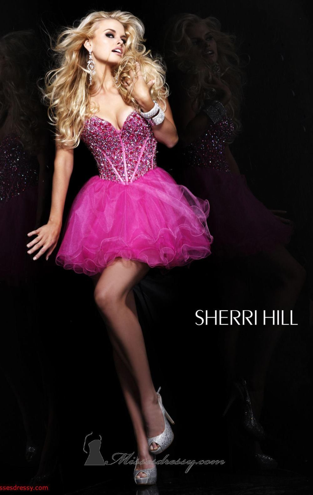 Barbie pink Sherri Hill 1466 dress | Sparkles and Prom | Pinterest