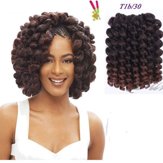 Jamaican Twists Hairstyles For Girls: 8inch Curly Braiding Hair Crochet Hair Twist Jamaican