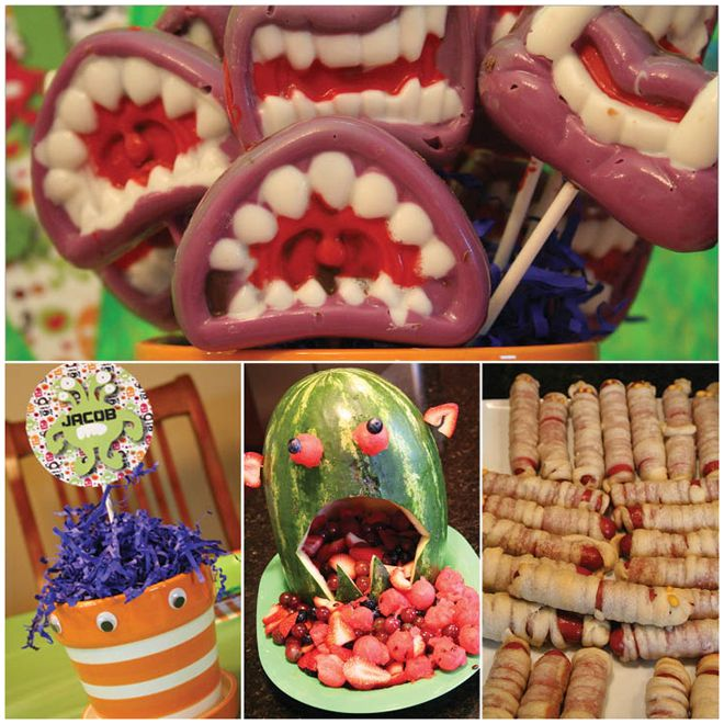 Monster Bash Birthday Party Monster mash, Monsters and Birthdays - halloween party ideas for kids food