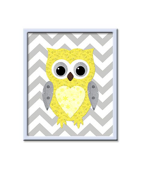 Kids Wall Art Owl Nursery Owl decor Baby Nursery Decor Baby Girl ...