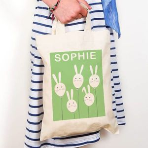 Bunny balloons personalised easter gift bag shopper bags easter bunny balloons personalised easter gift bag shopper bags negle Image collections