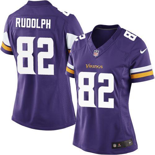 Nike Limited Kyle Rudolph Purple Women s Jersey - Minnesota Vikings  82 NFL  Home b244b2391