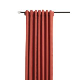 Style Selections Keira 84-in L Light Filtering Solid Paprika Back Tab Window Curtain Panel