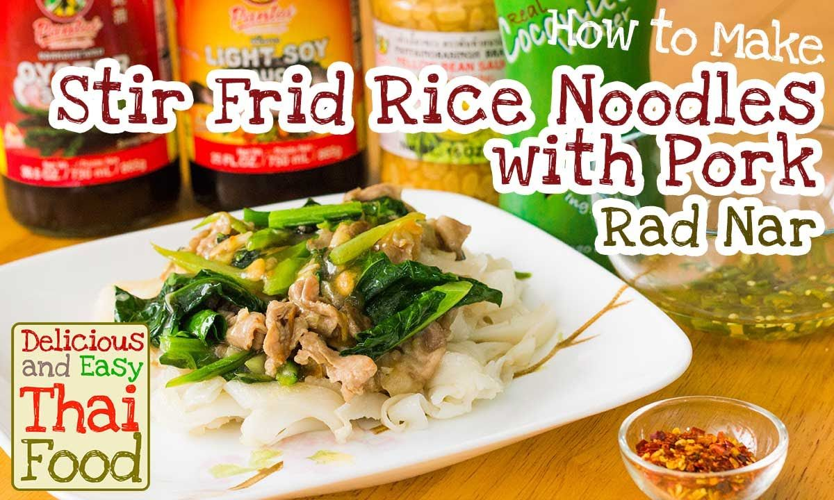 Easy and Delicious Thai food! Stir Fried Rice Noodles with Pork (Rad Nar). You can find this dish in every thai restaurant, but you can cook at home! Check out the video and our recipe page http://www.tastenirvana.com/stir-fried-rice-noodles-with-pork-rad-nar-recipe