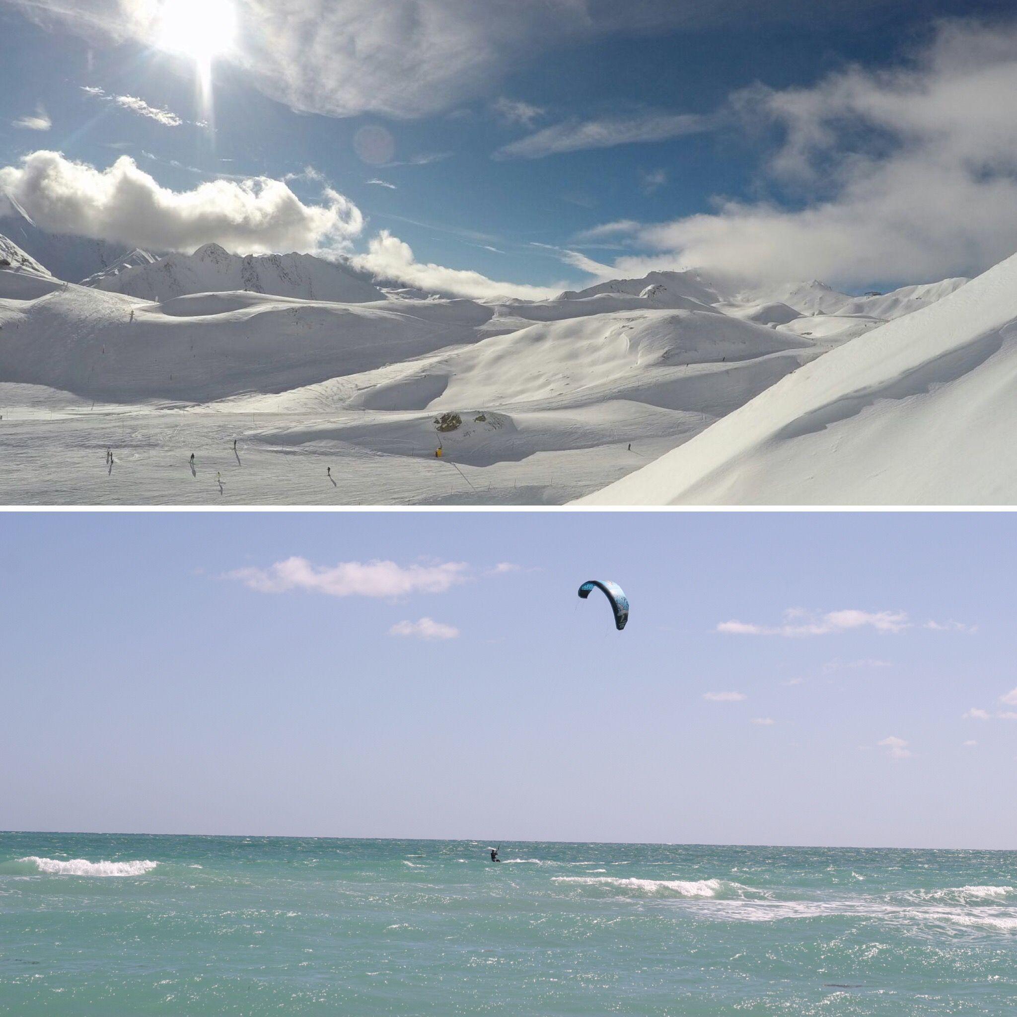 Snowboarden versus Kiteboarden